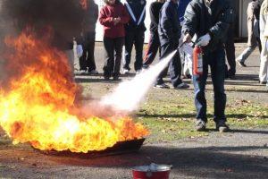 火が油に引火したとき