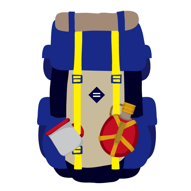 登山時の荷物の入れ方